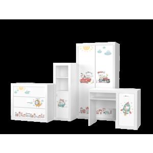 Set mobilier camera de copii 4 piese, Misie imagine