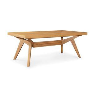 Masa extensibila din lemn de stejar, Borneo L160-260xl100xH76 cm imagine
