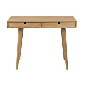Masa de birou Century cu 2 sertare din MDF si lemn de stejar L100xI74xA45 cm imagine
