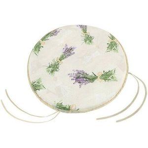 Pernă netedă rotundă Ema Buchet de lavandă, 40 cm imagine