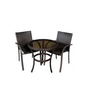 Set patru scaune si masuta de cafea pentru terasa, din imitatie ratan - TRS 102 imagine