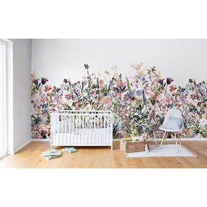 Fototapet Câmpia cu flori, Pastel, personalizat, Rebel Walls imagine