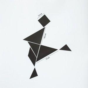 Magneți frigider / tapet magnetic - tangram negru imagine