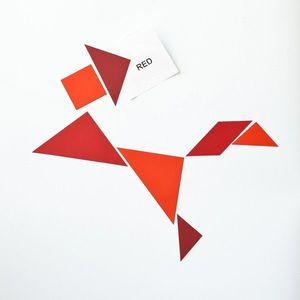 Magneți frigider / tapet magnetic - tangram roșu imagine