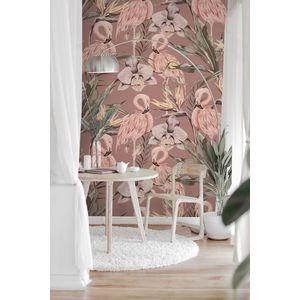 Tapet designer Tropical Shore (Tropical Flamingo) - Feathr imagine