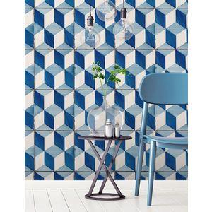 Tapet designer Lisbon (Portuguese Tile) - Feathr imagine