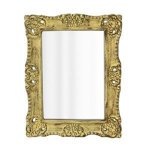Oglinda Antique din lemn auriu 51x40 cm imagine