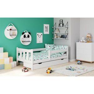 Pat pentru copii cu sertar HM Marinella alb imagine