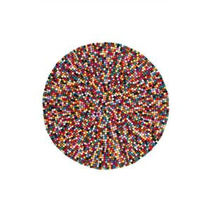 Covor Shaggy Latium, Rotund, Multicolor, 120x120 imagine