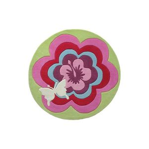 Covor Copii & Tineret Fantasy Flower, Acril, Rotund, Multicolor, 100x100 imagine