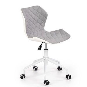 Scaun birou copii HM Matrix alb - gri Gri imagine