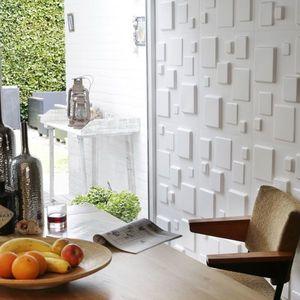 Panouri decorative 3D Squares, WallArt, 12 placi 50x50cm imagine