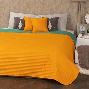 Cuvertură 4Home Doubleface portocaliu/verde, 220 x 240 cm, 2 buc. 40 x 40 cm imagine