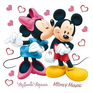 Decorațiune autocolantă Minnie & Mickey, 30 x 30 cm imagine