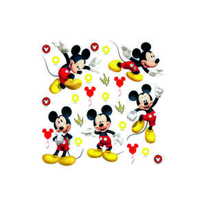 Decorațiune autocolantă Mickey Mouse, 30 x 30 cm imagine
