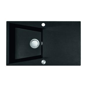 Chiuveta bucatarie granit compozit 1 cuva si picurator Laveo GRENADA, negru imagine
