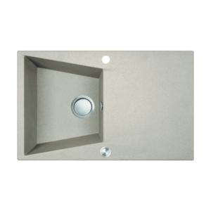 Chiuveta bucatarie granit compozit 1 cuva si picurator Laveo GRENADA, beige imagine