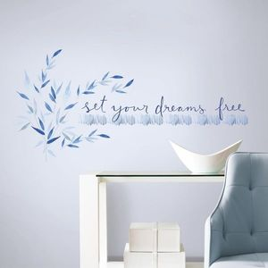 Sticker inspirational SET YOUR DREAMS FREE | 2 colite de 22, 9 cm x 101, 6 cm imagine