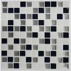 Placi mozaic METALLIC CHECKERBOARD   4 placi de 26, 7 cm x 26, 7 cm imagine