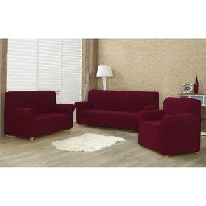 Husă multielastică 4Home Comfort pentru canapea, bordo, 180 - 220 cm, 180 - 220 cm imagine