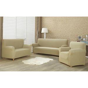 Husă multielastică 4Home Comfort pentru canapea, bej, 180 - 220 cm, 180 - 220 cm imagine