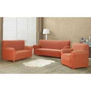 Husă multielastică 4Home Comfort pentru canapea terracotta, 180 - 220 cm imagine