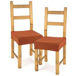 4Home Husă elastică scaun Comfort terracotta, 40 - 50 cm, set 2 buc imagine