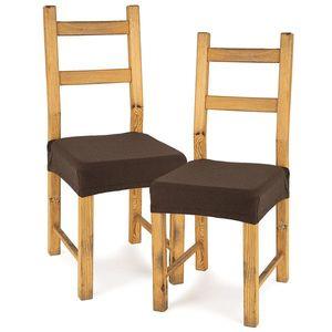4Home Husă elastică scaun Comfort brown, 40 - 50 cm, set 2 buc imagine