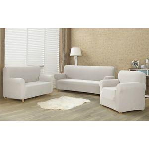 Husă multielastică 4Home Comfort pentru canapea cream, 180 - 220 cm imagine