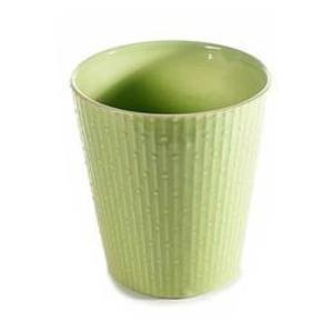 Ghiveci pentru flori ceramica verde Diametru 13 cm x 14 H imagine