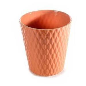 Ghiveci pentru flori ceramica portocaliu Diametru 13 cm x 14 H imagine
