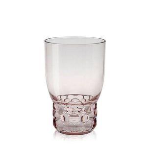 Pahar apa Kartell Jellies Family design Patricia Urquiola d 8.5cm h13cm roz transparent imagine