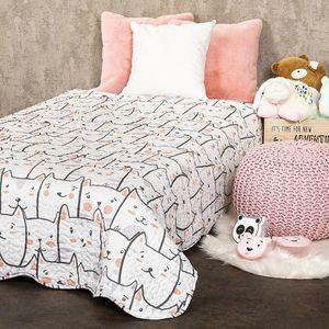 Cuvertură de pat pentru copii 4Home Pisici, 150 x 200 cm imagine