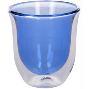 Set 2 pahare cu perete dublu - Dw Capp Gls Blue | Creative Tops imagine