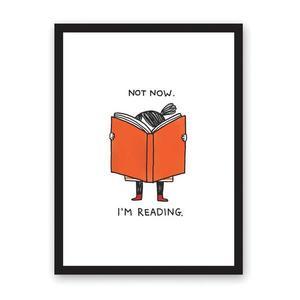 Poster-Not Now I'm Reading | Ohh Deer imagine