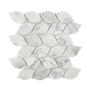 Mozaic Marmura Bianco Carrara Tear Drop Mata imagine