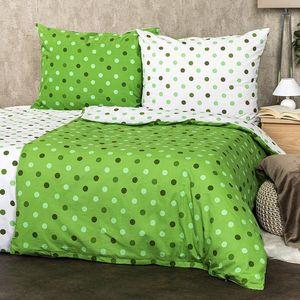 Lenjerie bumbac 4Home Buline, verde, 220 x 200 cm, 2 buc. 70 x 90 cm imagine
