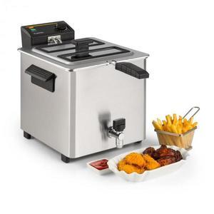 Klarstein Family Fry, fritteuse, 3000 W, tehnologie de scurgere a uleiului, oțel inoxidabil, argintiu imagine