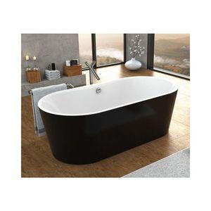 Cada freestanding Kolpasan Comodo negru si alb 185x90 cm imagine