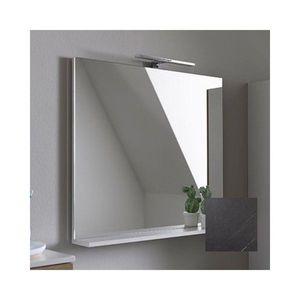 Oglinda cu etajera KolpaSan Evelin gri 65x70 cm imagine