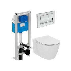 Set vas wc suspendat Ideal Standard Connect AquaBlade cu capac inchidere lenta si rezervor Ideal Standard Prosys imagine