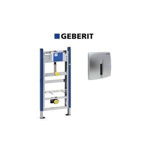 Set de instalare Geberit Prepack pentru pisoar cu senzor si clapeta crom mat imagine