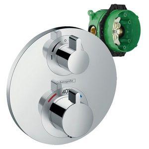 Set promo baterie dus termostatata Hansgrohe Ecostat S cu montaj incastrat, doua functii + iBox imagine