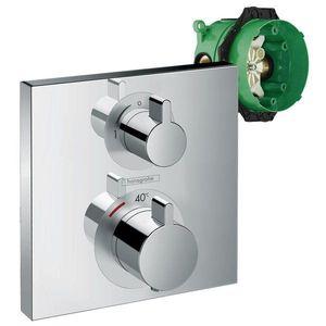 Set promo baterie dus termostatata Hansgrohe Ecostat Square cu montaj incastrat, doua functii + iBox imagine