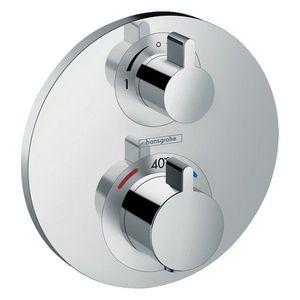 Baterie dus termostatata Hansgrohe Ecostat S cu montaj incastrat, doua functii imagine