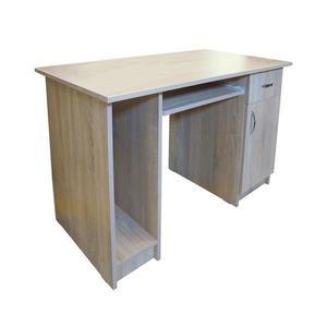 Birou Nero cu 1 usa si 1 sertar, Sonoma, 120 x 74 x 60 cm - Spectral Mobila imagine