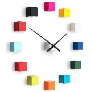 Ceas de design Future Time FT3000MC Cubicmulticolor, autoadeziv, diam. 50 cm imagine
