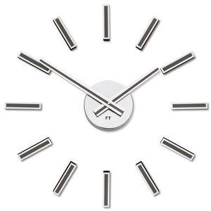 Ceas de design Future Time FT9400TT Modular titanium, autoadeziv, diam. 40 cm imagine