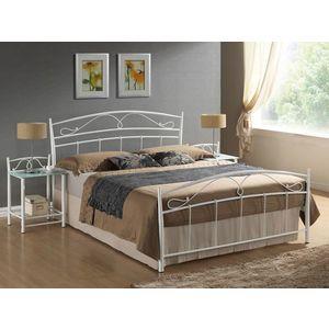 Cadru de pat, alb, 140 x 200 cm, metal imagine