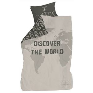 Lenjerie de pat copii Cotton Discover the World imagine